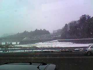 関ヶ原は雪