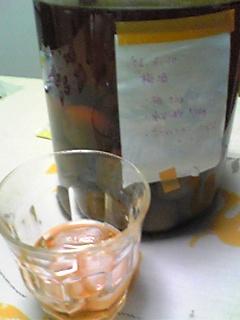 自家製梅酒うまい☆