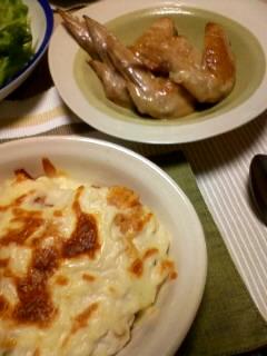 ドリアと手羽先の塩バター煮