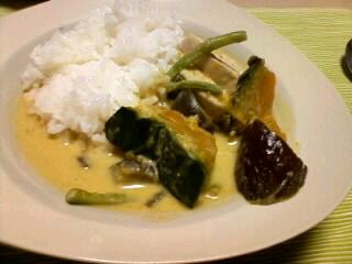 夏野菜たっぷりグリーンカレー
