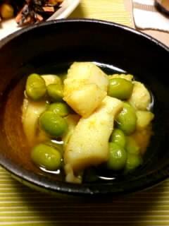 いかと枝豆のカレーマリネ