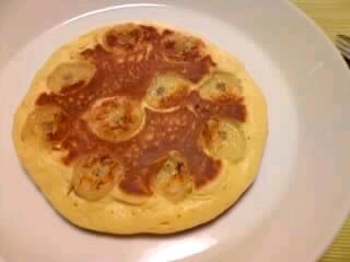 バナナ入りホットケーキ