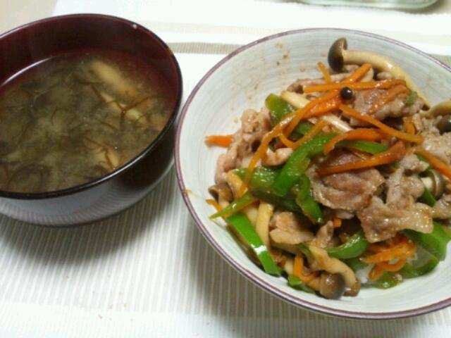 野菜たっぷり生姜焼き