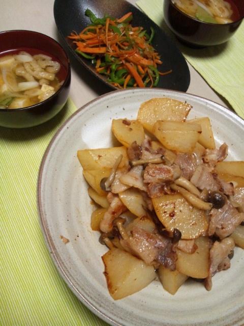 ナポリタン&豚バラと大根の蒸し煮