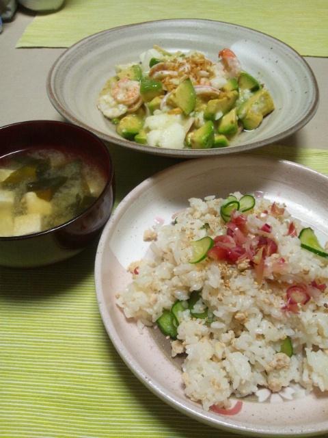 ミョウガの混ぜ寿司