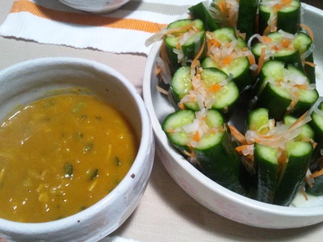オイキムチとカボチャのカレースープ