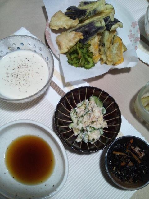 酷暑の中の天ぷら