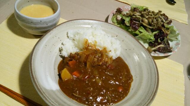 人参スープとカレー