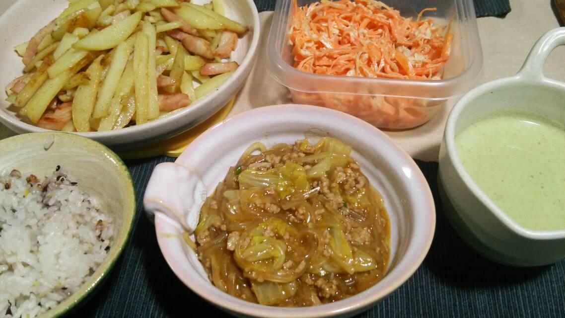 麻婆白菜、青菜炒めなど