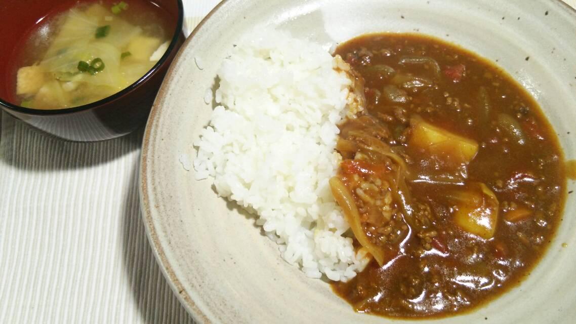 醤油麹でスペアリブ、合挽き肉のカレー