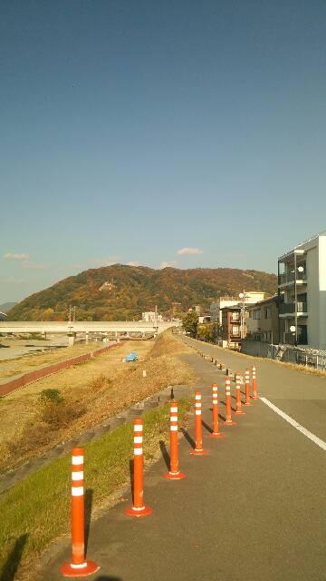 三連休の初日は猪名川サイクリングロード