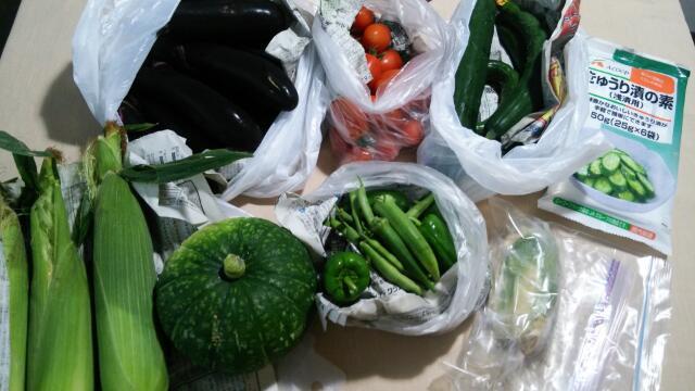 夏野菜いっぱいです