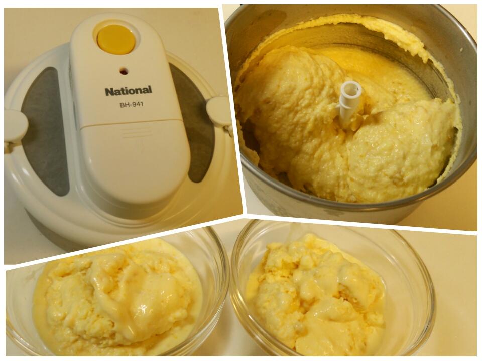 数年ぶりに出しました、アイスクリームメーカー