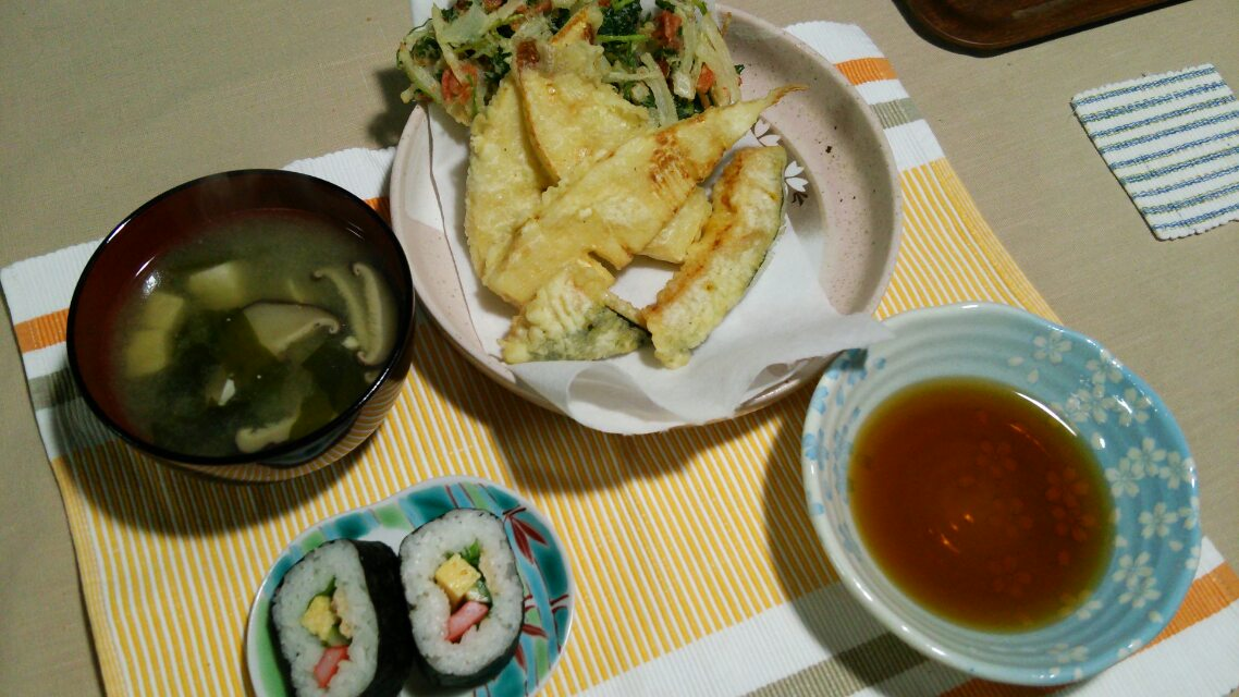 タケノコの天ぷらとか