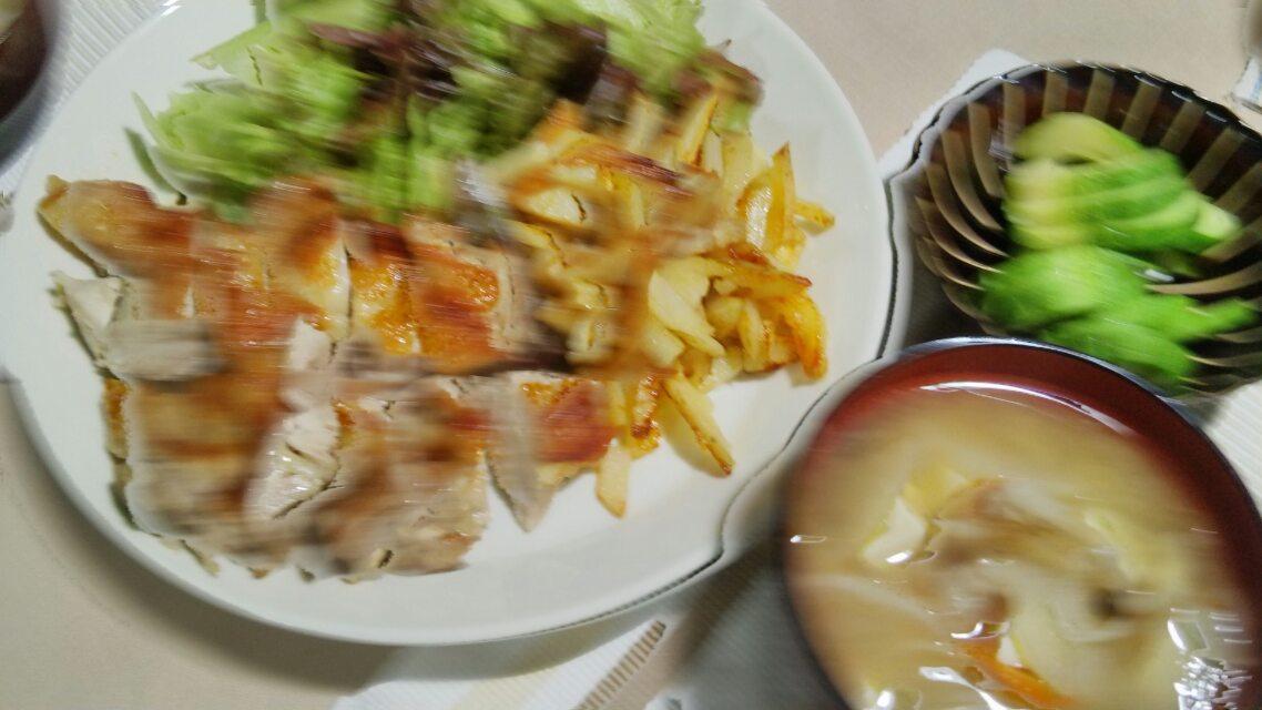 ナスの生姜焼きバター風味とか