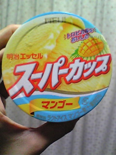 スーパーカップにマンゴー
