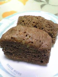 ココアバナナ蒸しパン